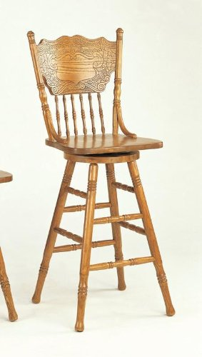 Incredible Check 29H Bar Stool With Pressed Back Oak Finish From Amzon Machost Co Dining Chair Design Ideas Machostcouk