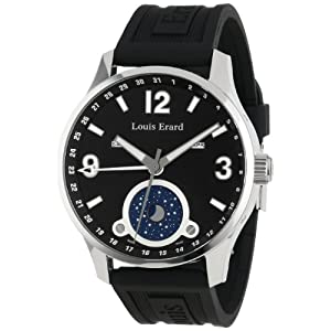 Louis Erard Men's 48223AA02.BDE09 1931 Automatic Luminous Black Dial Rubber Watch
