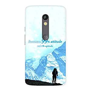 Gorgeous Attitude Success Back Case Cover for Moto X Play