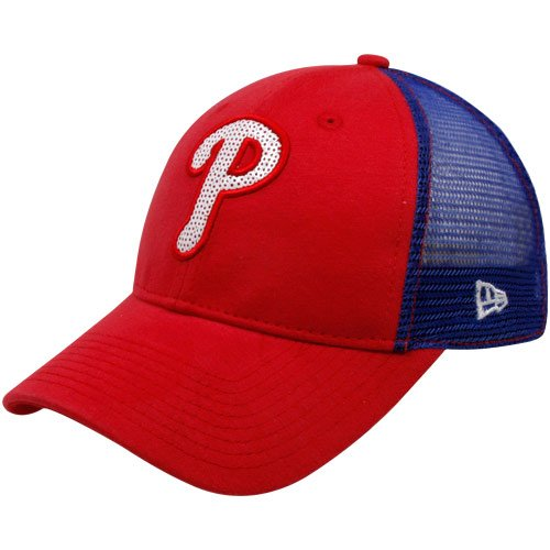 Philadelphia Phillies Women's Red New Era C-Quinn Adjustable Trucker Hat at Amazon.com