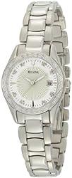 Bulova Women's 96R133 Diamond Case Mother-Of-Pearl Dial Bracelet Watch