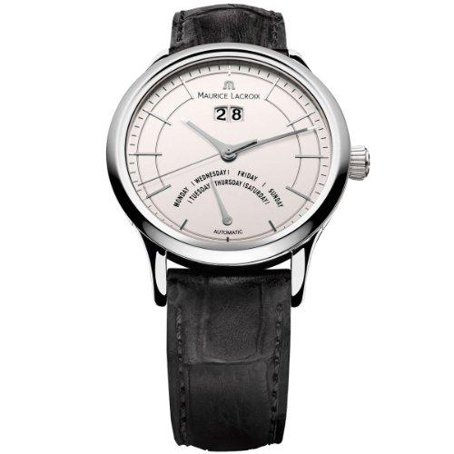 Maurice Lacroix Les Classiques LC6358-SS001-13E - Reloj para hombres, correa de cuero color negro