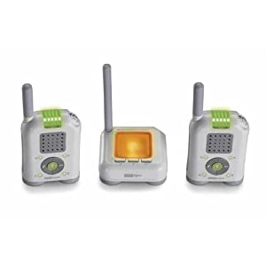 Fisher-Price Mom Response Digital Audio Monitor with Dual Handsets, 900MHz - White/Grey (Discontinued by Manufacturer)