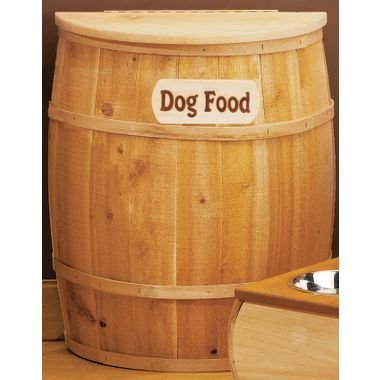 Half Barrel Dog Food Container
