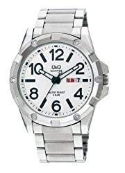 Q&Q Standard Analog White Dial Mens Watch A150N204Y