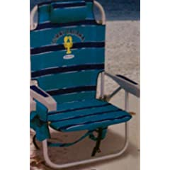 Buy ***2 Blue & Navy Tommy Bahama Backpack Cooler Beach Chairs, Umbrella & Beach Cart Combo*** by Tommy Bahama