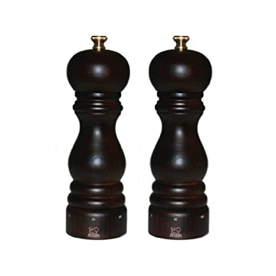 Peugeot 2/23461 Paris U'Select 7 Inch Salt and Pepper Mill Set, Chocolate