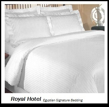 Royal Hotel's Striped White 1200-Thread-Count
