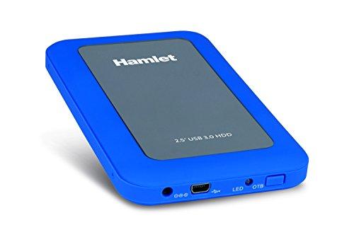 """Hamlet HXD25U3MBL - Box per Hard Disk SATA, USB 3.0 da 2.5"""" (colore Blu)"""