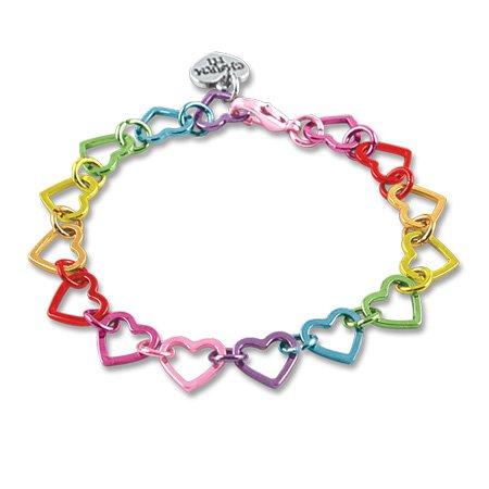 CHARM IT! Rainbow Heart Link Charm Bracelet - Starter Bracelet