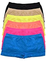 Boy Shorts Panties for Women Seamless Comfortable Stretch Underwear 6 Pack