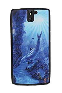 Fuson Premium 3D Visual Effect Silicon Back Case Cover for one plus one - 3D15