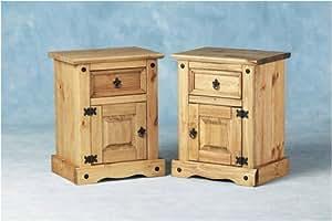 Corona 1 Drawer 1 Door Bedside Table - Single Table
