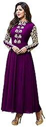 Ecoco Fashion Women's Unstitched Salwar Suit (Purple)