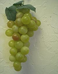 3 GREEN RED Plastic Grape Artificial Fruit Clusters
