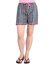 Lenora Women's Cotton Boxers (LN3013MX_Multi_Small)