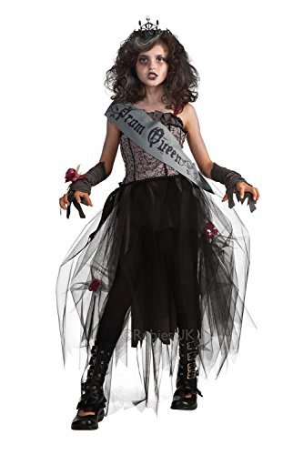 [Rubies 884782 Girls Gothic Prom Queen Costume - Gothic Prom Queen - Size - Medium 5-7 Years] (Zombie Queen Costumes)