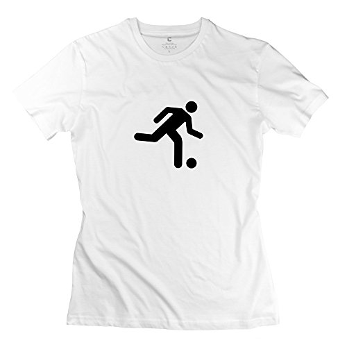 Zhitian Women'S Fussball T-Shirt - Xxl White