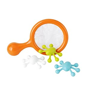 Boon Water Bugs Floating Bath Toys with Net,Orange