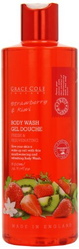 Grace Cole Fruit Works Strawberry and Kiwi Body Wash 500ml by Grace Cole (English Manual)