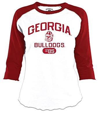 ncaa georgia bulldogs womens baseball tee