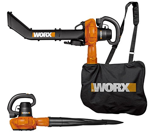 Worx Powerful Electric Corded Handheld Vac, Mulcher, Leaf blower Vacuum with Attachment Tools (Backpack Blower Toy compare prices)