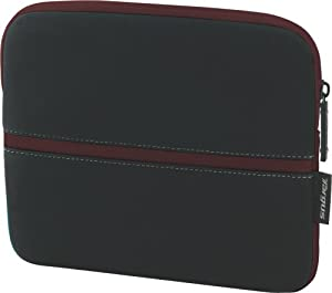 Targus Neoprene Slipskin Peel Netbook Slip Case Designed to Protect up to 10.2-Inch Netbooks TSS111US  (Black with Burgundy)