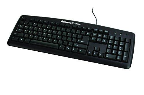 Fellowes Microban Basic 104 Key Keyboard, Black (9892901)
