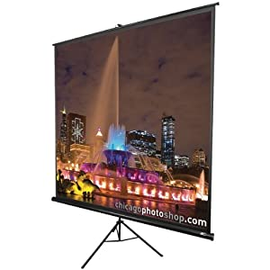 "MaxWhite Cinema Tripod Series Tripod / Portable Projector Screen - 84"" Diagonal Size: 120"" Diagonal - White"