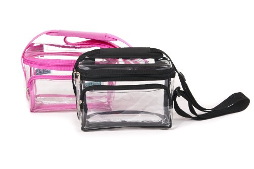 Wholesale Heavy Duty Large Clear Lunch Bag Case Of 25 Black, 11.5″ W X 10″ H X 8″ D