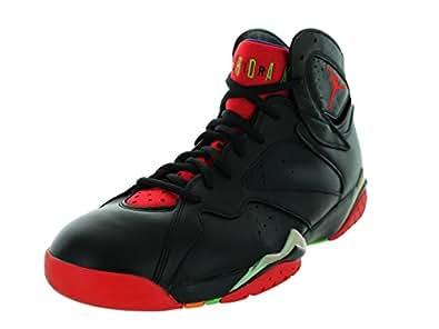 Nike Jordan Men's Air Jordan 7 Retro Blck/Unvrsty Rd/Grn Pls/Cl Gry Basketball Shoe 8 Men US