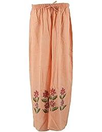 BASANTANI Women's Cotton Leggings (Peach)