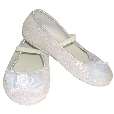 White Glitter Party Shoes - Kids Accessory 7 - 8 years