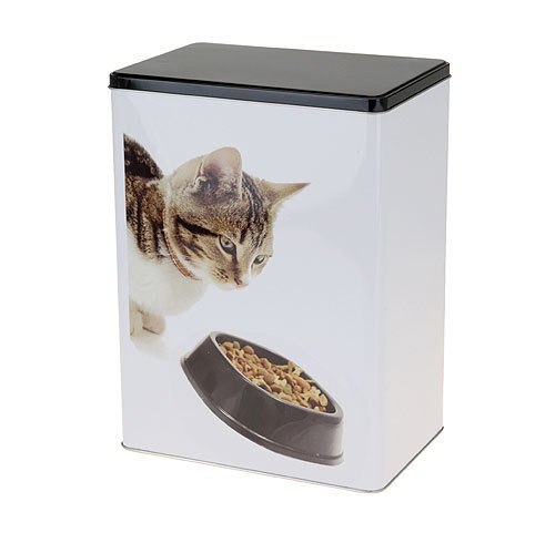 Contemporary Cat Food Storage Tin
