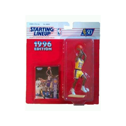 Starting Lineup 1996 Edition Eddie Jones - Los Angeles Lakers 4 inch Action Figure - 1