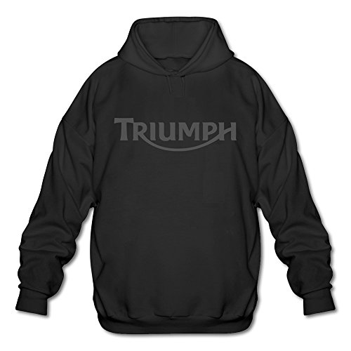 Roshow Mens Triumph Motorcycle Logo Old Emblem Hoodies