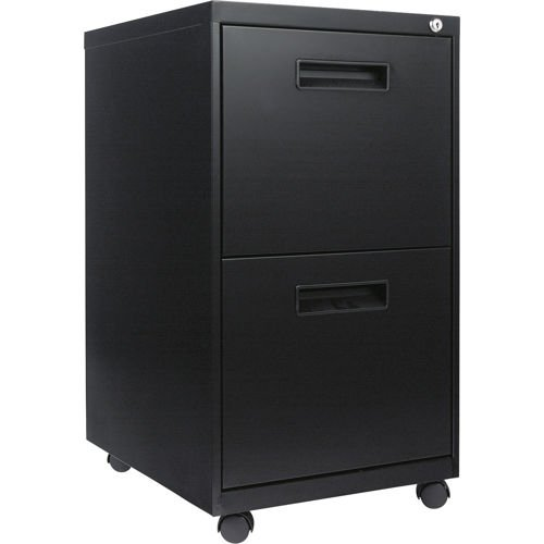 "Alera Mobile 2 File Drawer Pedestal 19-3/4""D Black primary"