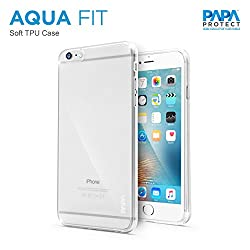 Papa Protect iPhone 6S Aqua Fit Case | TPU | Soft | Lightweight | Durable | Clear
