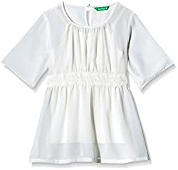 Palm Tree Baby Girls' Blouse (132031168575 1302_White_6-12 Months)