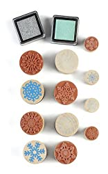 Martha Stewart Crafts Snowflakes Wooden Stamp and Ink Set