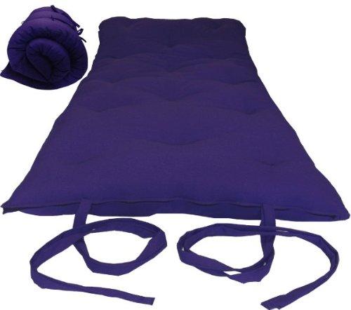Brand New Purple Traditional Japanese Floor Futon Mattresses, Foldable Cushion Mats, Yoga, Meditaion.