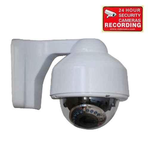 "Videosecu Security Camera Built-In 1/3"" Sony Effio Ccd 700Tvl High Resolution Zoom Dome Day Night Vision 17 Ir Infrared Leds 3.5-8Mm Varifocal Lens For Dvr Home Cctv Surveillance System With Bonus Warning Sticker Ac5"