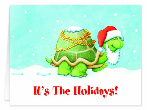 Holiday Turtle Christmas Card Set of 20 by WalterDrake