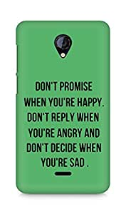 AMEZ dont promise when you are happy Back Cover For Micromax Unite 2 A106