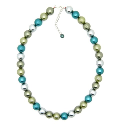 Sterling Silver Shell Pearl Necklace