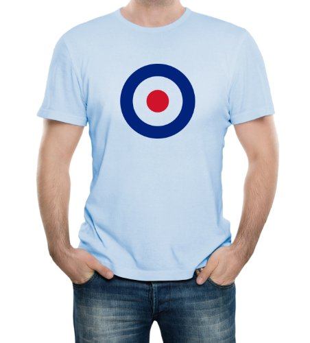 Mod Target Symbol Light Blue Adult T-Shirt - X-Large Light Blue (Mod Clothing compare prices)