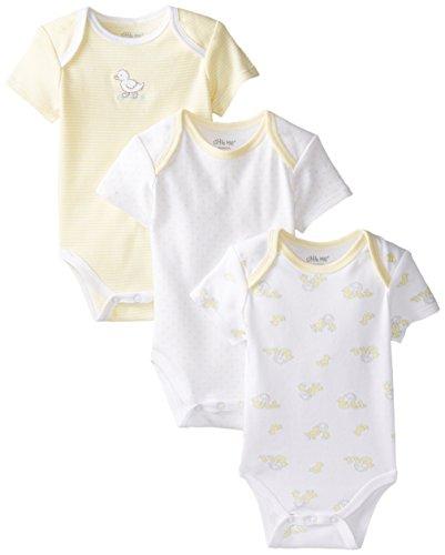 Little Me Unisex-Baby Newborn Splash 3 Pack Bodysuits, Yellow/Multi, New Born