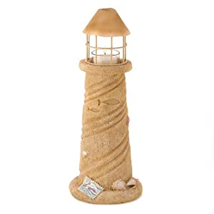 Gifts & Decor Nautical Sandcastle Lighthouse Candle Holder Light Lamp