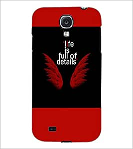 PrintDhaba Quote D-5939 Back Case Cover for SAMSUNG GALAXY S4 (Multi-Coloured)