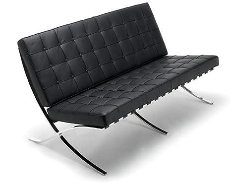 Barcelona 2-Seater Sofa in Espresso full aniline Italian leather
